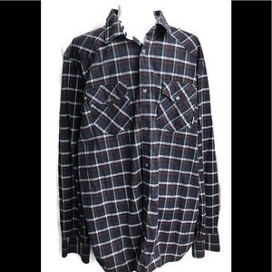 "Vans ""Off The Wall"" Men's plaid button down shirt."